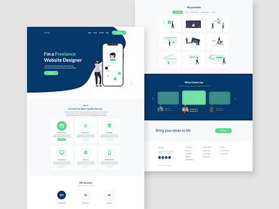 Modern Portfolio Website portfolio website ui design