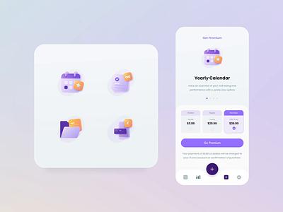 #Exploration - Premium Benefit Icons vectors figma iconography adobe after effect figmadesign icons design premium ux design tracker vector app motion app design illustration ui habit tracker
