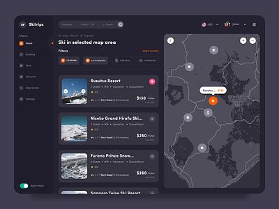 #Exploration - Ski Travel Industry indonesia designer dark ui dashboard ui ux ecommerce business ecommerce ski design app ui website