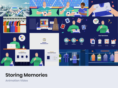 Storing Memories - Animation Video vector after effect figma inspiration hafidfach 2d animation illustration motion branding motion graphics graphic design animation