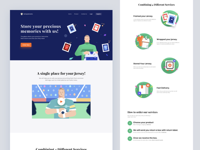 #Exploration - Storing Memories web packing ui figma icon jersey germany landingpage b2c motion graphics branding vector design website illustration