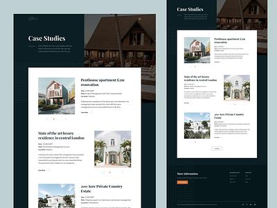 Exploration - Case Studies management minimalistic case studies property landing page simple clean design ui website