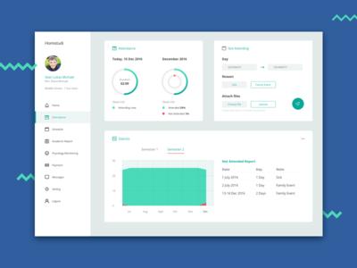 Homistudi - Exploration dashboard report dashboard app ux ui school teacher user statistic web