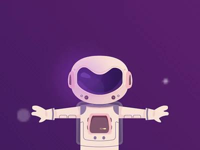 Dream space film children violet space dream video astronout illustration motion animation 2d