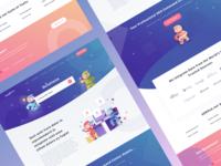 Serped Sales page app logo website webdesign vector ui design ui sketch app seo tools seo ninja landingpage illustration icon design icon design dashboard haracter design