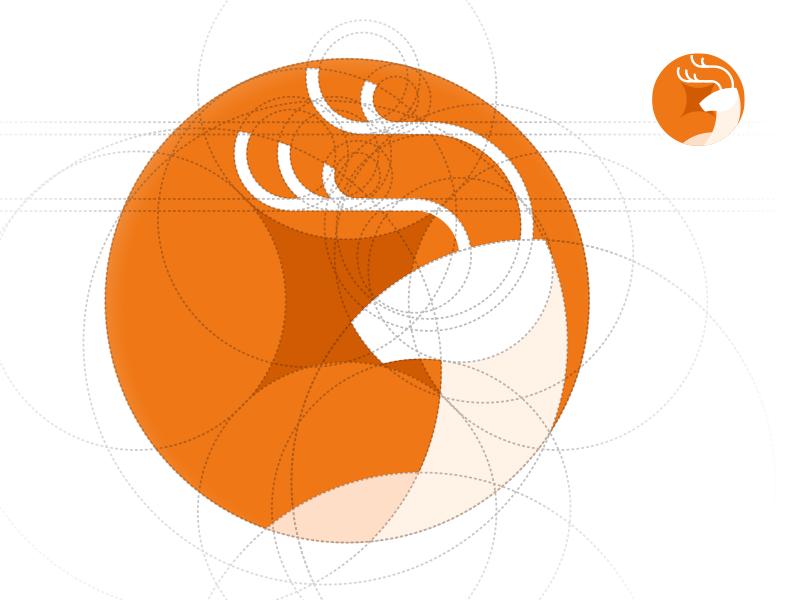 A financial logo finance deer logo