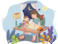 Coaching children to do homework