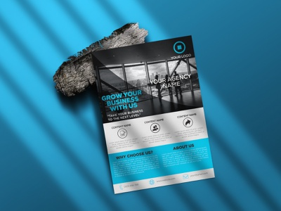 Corporate Business Flyer typography illustration design