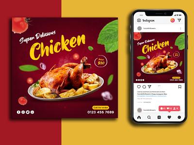 Chicken Social Media Post/Banner Design