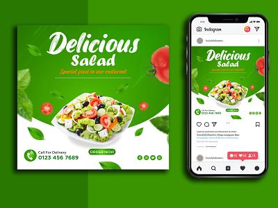 Salad Social Media Post/Banner Design