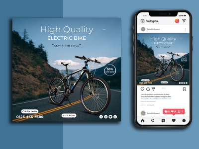 Cycle Social Media Post/Banner Design