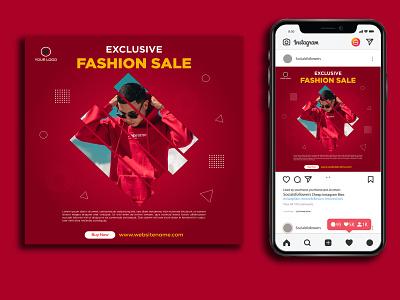 CLOTH FASHION SOCIAL MEDIA POST / BANNER DESIGN