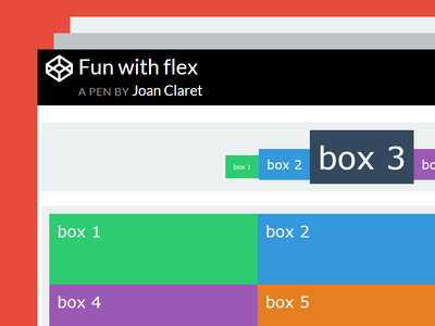 Codepen Flexbox Examples Fun With Flex By Dpam23 Dribbble