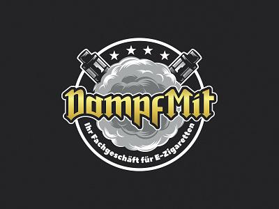 Logo for a vape shop in Germany. Custom lettering lettering typography vector cigarettes cigarette logo design badge smoke vape
