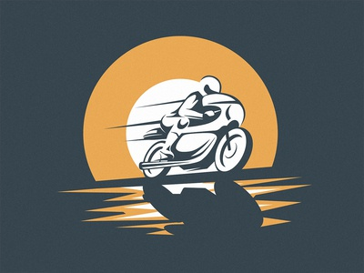 Classic caferacer illustration.