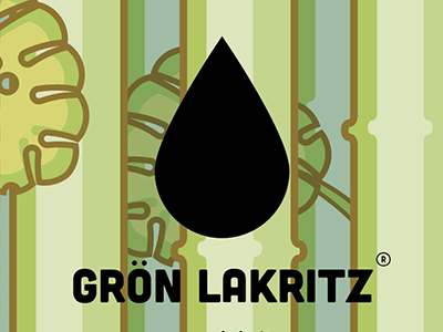 Grön Lakritz jungle candy liquorice box package