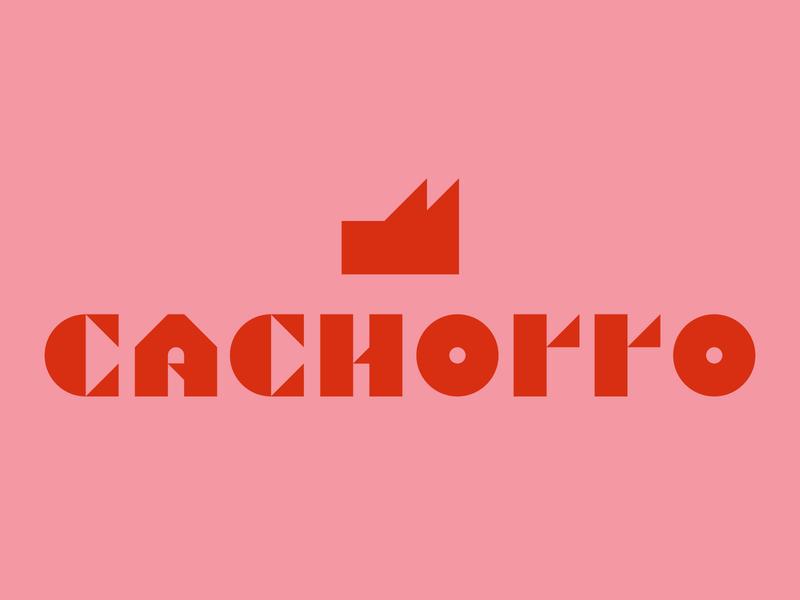 Cachorro brutalist brutalism serif pink red typography logo dog cachorro