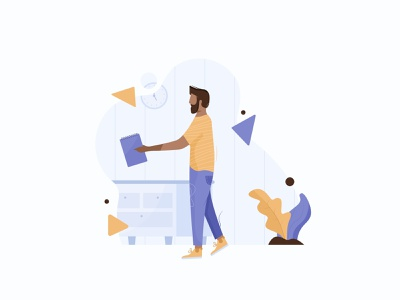 Illustration Explorations Workshop clothes popup hair circle workshop character characters design explorations people yellow blue background shapes flowers characters sleeknote ui ux illustration