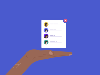 Blog Cover - Email List brown purple hold ui element list email avatars handshake hands character icons circle sleeknote popup illustration blue web ux ui