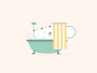 Blog Covers bath hand blue pale yellow hero area hero image character publish article blog cover blog illustrations illustration sleeknote popup