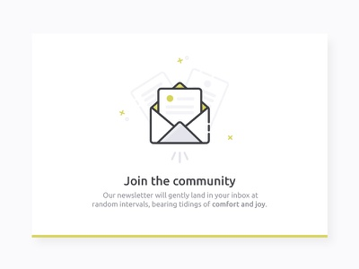 Newsletter card webdesign web popup yellow card email newsletter