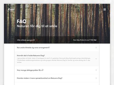 FAQ Page open header minimalistic web nature landing faq