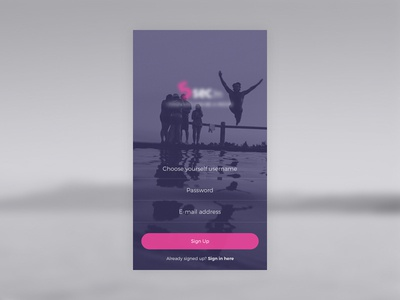 Iphone app login ios iphone design sign up landing login app