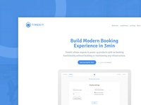 Landing page for Timekit