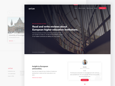 Unilun Landing Page clean ux ui quote homepage startup landing education home page home
