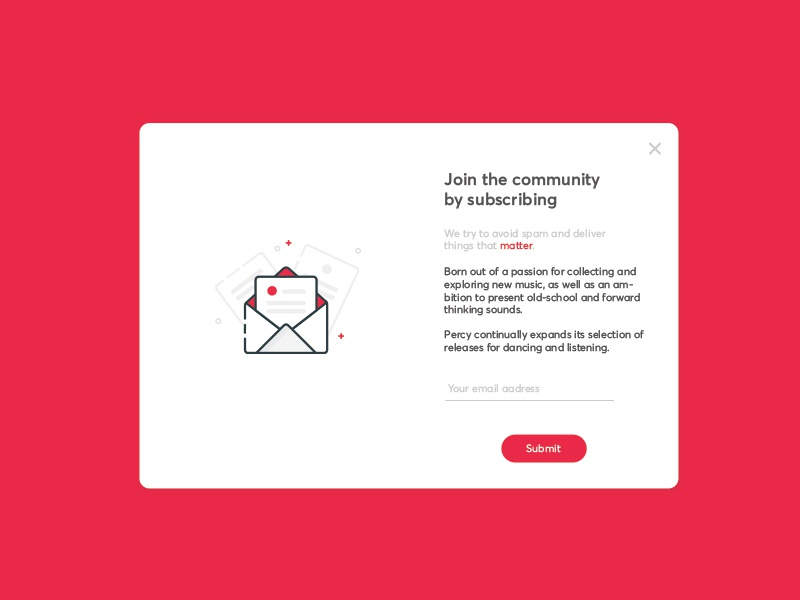 Unilun newsletter web design web ux subscribe email popup ui newsletter