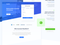 Landing Page for Logistics app
