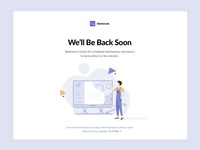 Maintenance Page & Illustration