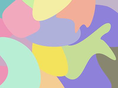 Colourful Shapes pastel shapes illustration design colours