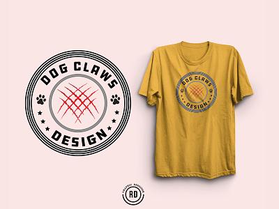Dog Claws typography t-shirt design vector art print on demand print pod tshirt design art typography t-shirt tshirt design vector tee branding illustration dog tshirt graphic design advertising