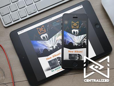Centralized promo album band music music band artistic direction identity logo website web design webdesign