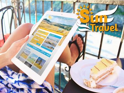 Sun Travel holidays travel agency travelling traveling travel artistic direction identity logo website web design webdesign