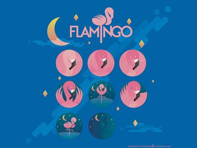 Flamingo logo study. kaiserinside flamingo graphic design logo
