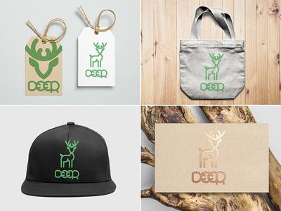 Deer Logo. Mockups & Goodies branding goodies mockup deer graphicdesign logos logodesign design designthinking kaiserinside