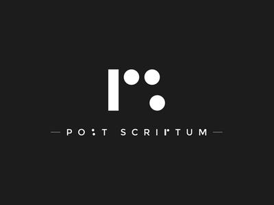 Post Scriptum  (Final) mockup graphicdesign design designthinking logos logodesign logo kaiserinside