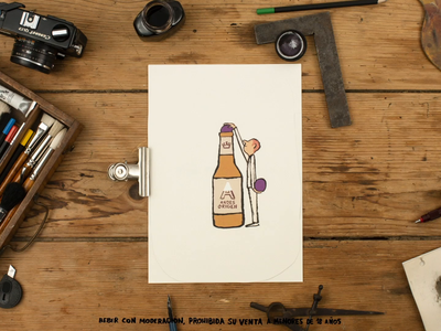 Andes Origen Edición Vendimia grapefruit stop motion beer illustration after effects shoot art direction photography animation