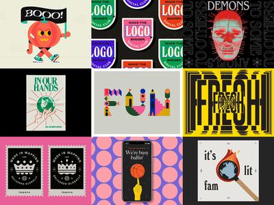 2019 best 9 new year poster logo badge design kinetic typography branding vector illustration animation best 9