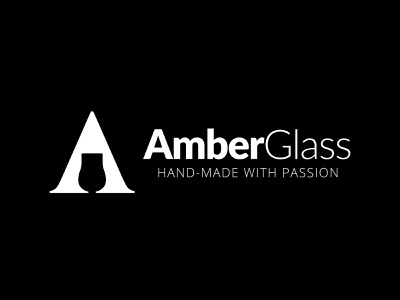 Amber Glass branding illustration letter logotype glass whisky logo