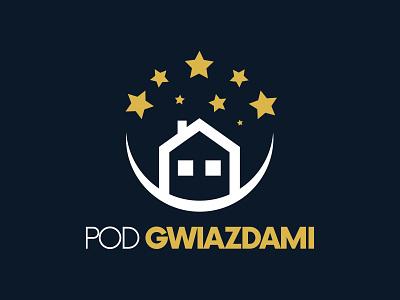 POD GWIAZDAMI vacation vacation rental hotels turist logodesign logo