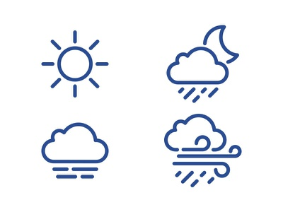 Weather icons icons moon wind sun weather