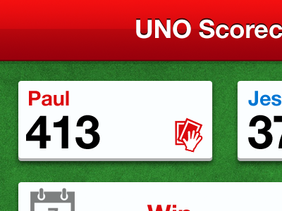 Uno Scorecard #1 iphone retina ios uno user interface