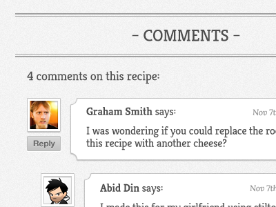Cuisine Recipe Theme - Recipe Page google webfonts recipe kreon accordion ux ui