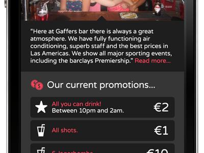 Drink Dance Date responsive varela round mobile