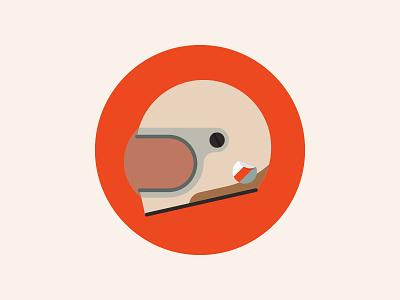 Helmet Icon vintage icon flat illustration
