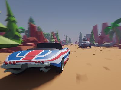 3D Low poly car racing ui illustration 3d art 3d modeling 3d illustration