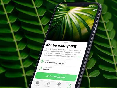 Wet my plants transitions app plant green iphonex application garden design ux ui beau darcey